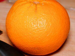 Eine Orange für den Fenchelsalat